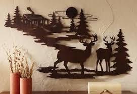 wildlife home decor deer metal wall art cabin lodge rustic wildlife home decor man