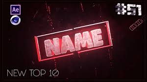 top 10 free intro templates 51 cinema 4d adobe after effects