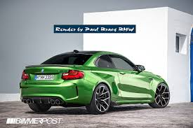green bmw renders my vision of the future m2 cs