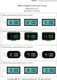 matching time with analog or digital clock ideas for