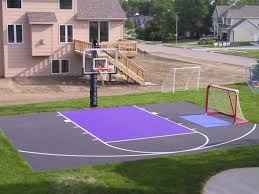 small backyard basketball court u2014 home design lover amazing