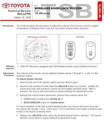 1998 toyota 4runner key fob keyless entry beep volume toyota 4runner forum largest 4runner