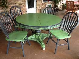 Painted Kitchen Tables And Chairs by Green Black Painted Kitchen Tables And Chairs For Outdoor Dining Area Decor Jpg