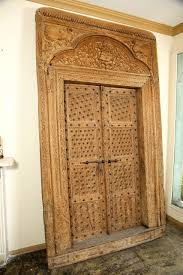 ornately carved wood door with surround from india for sale at 1stdibs