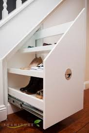 stunning shelves under basement stairs images decoration ideas