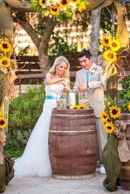 sunflower wedding sunflower wedding ceremony rustic boho