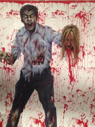 zombie themed halloween party meet zorran our resident zombie be his meal by sticking your