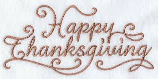 happy thanksgiving thanksgiving machine embroidery designs