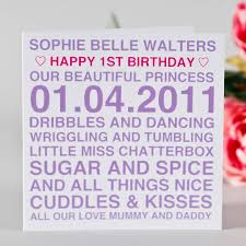 personalised birthday card by megan
