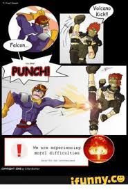 Falcon Punch Meme - volcano kick falcon punch we are experiencing moral difficulties