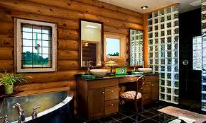 bathroom lovely inspiring log cabin bathroom ideas home