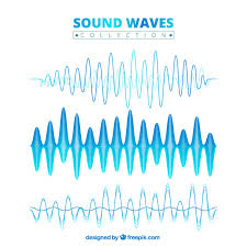 blue sound wave collection vector free download