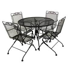 Black Wrought Iron Patio Furniture Sets Iron Patio Dining Set Gccourt House Wrought Table Cast Superb