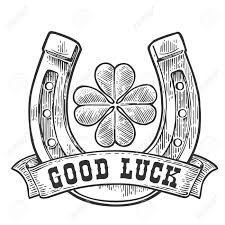 gud luck luck clipart black and white pencil and in color luck clipart