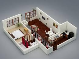 chambre en 3d 50 plans en 3d d appartement avec 1 chambres