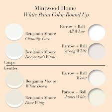 mintwood home u0027s white paint color round up