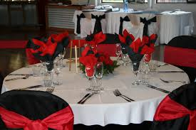 and red table decorations unique red and black wedding reception