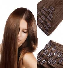 hair extensions canada human hair clip in hair extensions canada 6 chestnut brown with