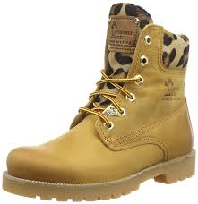 biker boots for sale panama jack 03 leopardo b1 women u0027s biker boots yellow gelb