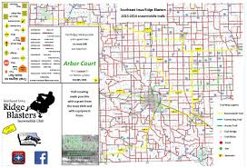 Map Of Iowa Towns Iowa Snowmobile Trails