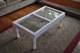 Old Coffee Table by Remodelaholic 100 Ways To Use Old Windows