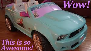 pink power wheels mustang disney frozen ride on power wheels ford mustang walk around w the