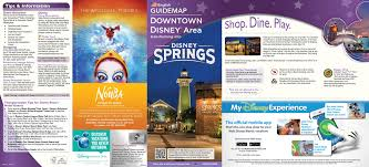Orlando Tourist Map Pdf by Photos New Downtown Disney Guide Map Includes Disney Springs