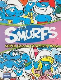smurfs super coloring activity bk modern publishing