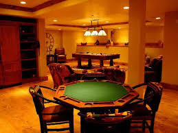Big Game Room - living room card board and billiard table in big home game room