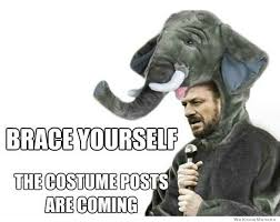 Brace Your Self Meme - brace yourself the costume posts are coming weknowmemes