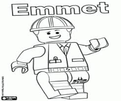 emmet character lego movie coloring printable game