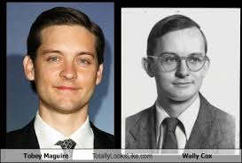 Meme Tobey Maguire - tobey maguire totally looks like wally cox totally looks like