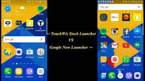 now launcher apk samsung touchwiz stock launcher vs now launcher galaxy s7