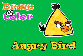 angry birds movie how to draw and color chuck angry birds draw