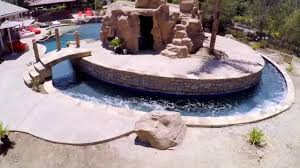 Backyard Pool With Lazy River by California Pools On Pool Kings Canyon Country Playground Youtube