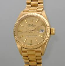 golden rolex a ladies u0027 18k oyster perpetual datejust rolex 03 06 09 sold 3450