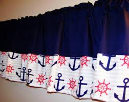 Nautical Valance Curtains Nautical Valance Etsy