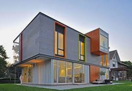 modern color of the house stylish orange and green window color combination for modern