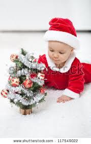 my christmas baby girl my christmas baby girl santa stock photo 117549022