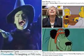 Laugh Meme - theresa may memes go viral after pm performs bizarre laugh during
