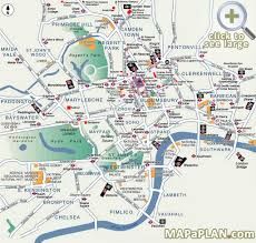 Chicago Attraction Map by Best Map Of London Popular Destination Spots London Top