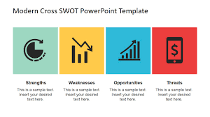 horizontal flat swot powerpoint slide layout slidemodel