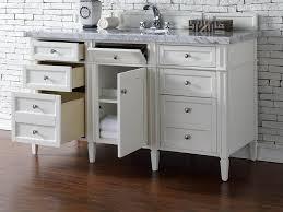58 Inch Bathroom Vanity by Contemporary 60 Inch Single Bathroom Vanity White Finish No Top