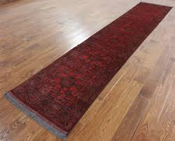 wool rug dark red 3 u0027x13 u0027 bokhara runner hand knotted wool rug h9636
