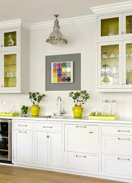 Yellow Kitchens With White Cabinets - yellow kitchen cabinets design ideas