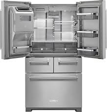 Kitchenaid Counter Depth French Door Refrigerator Stainless Steel - kitchenaid 25 8 cu ft 5 door french door refrigerator