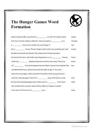 esl printable word games for adults the hunger games word formation worksheet free esl printable
