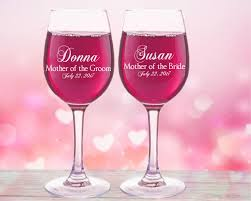 wedding gift glasses of the gift personalized wine glasses of the