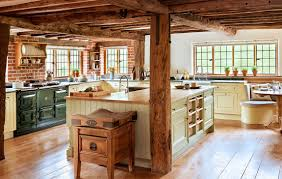 marvelous french vintage decor applied at traditional kitchen