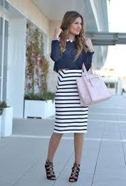 striped pencil skirt dress ala 71 summer ideas to look stylish black fashion 2017